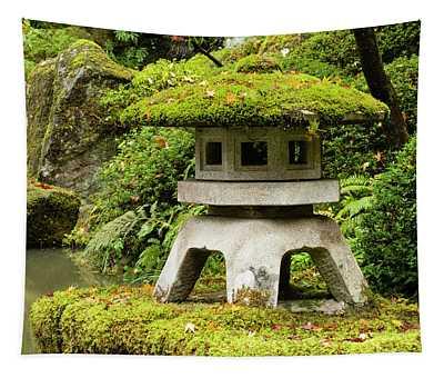 Autumn, Pagoda, Japanese Garden Tapestry