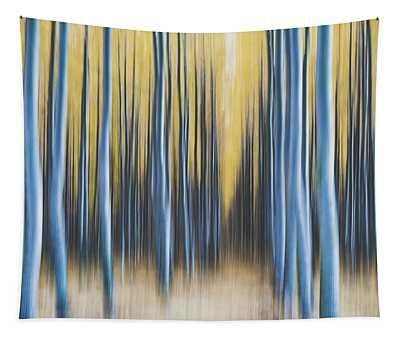 Autumn Poplars Tapestry