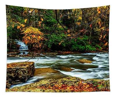 Autumn Rain Back Fork Of Elk River Tapestry
