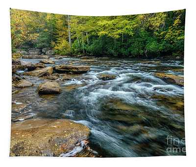 Autumn Rain On Cranberry River Tapestry