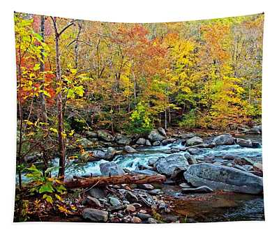 Autumn River Memories Tapestry