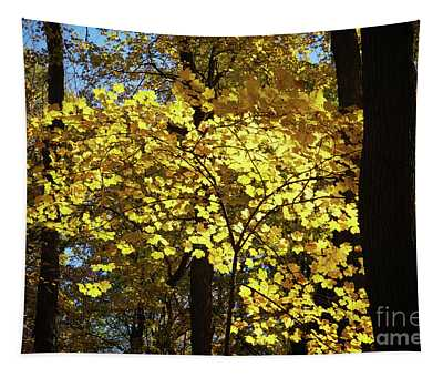 Autumn Shades Of Yellow Tapestry