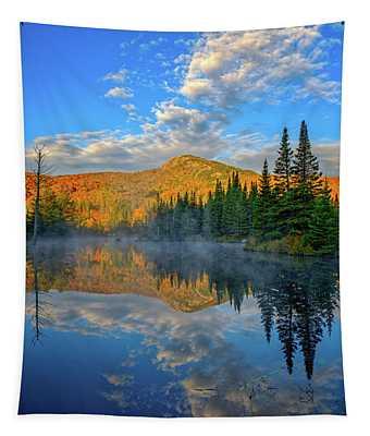 Autumn Sky, Mountain Pond Tapestry