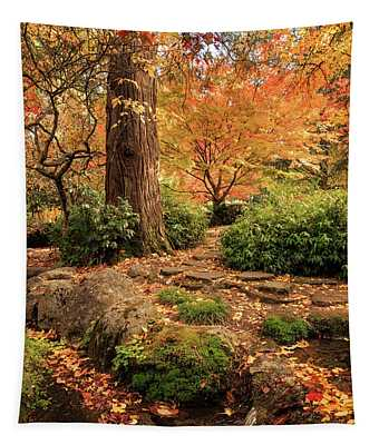 Autumn Stream In Lithia Park Tapestry