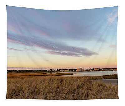 Autumn Sunset At West Dennis Beach Cape Cod Tapestry