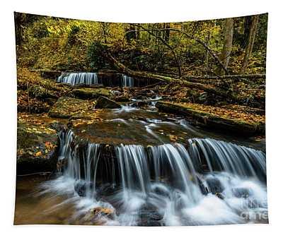 Autumn Waterfalls  Tapestry