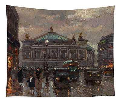 Avenue De L'opera, Paris-peace Street And Place Vendome, Paris Tapestry