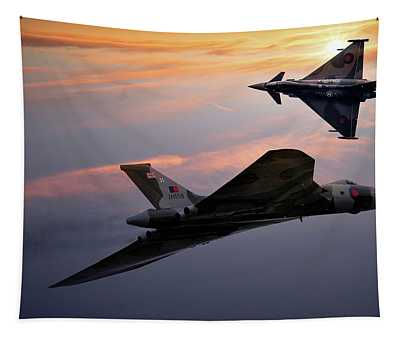 Avro Vulcan Xh558 And Eurofighter Typhoon Gina. Tapestry