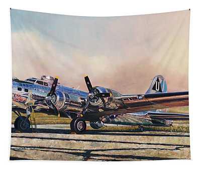 B-17g Sentimental Journey Tapestry