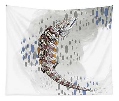 B Is For Blue Tongue Lizard Tapestry