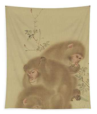 Baboon Family Tapestry