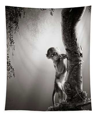 Baby Baboon Tapestry