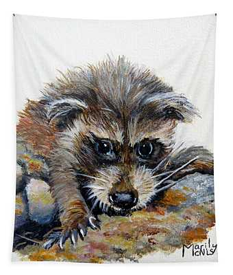 Baby Raccoon Tapestry