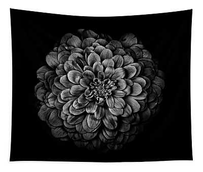 Backyard Flowers In Black And White 54 Tapestry