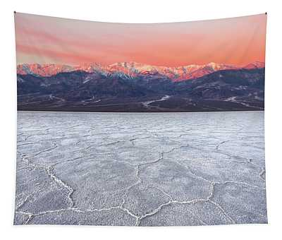 Badwater Basin Alpenglow Tapestry