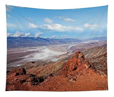 Badwater Basin From Dante's View Tapestry
