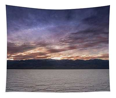 Badwater Basin Salt Flats Death Valley California Tapestry
