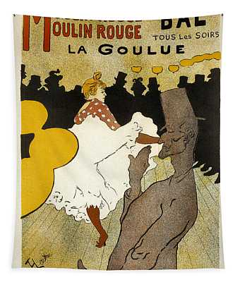 Bal La Goulue Vintage French Advertising Tapestry