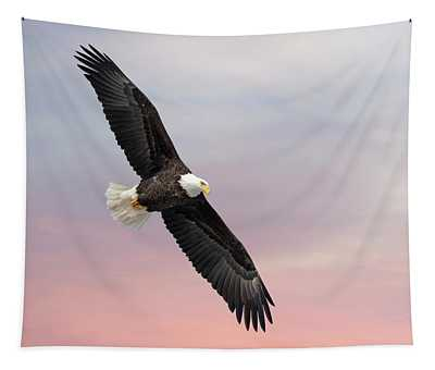 Bald Eagle With The Sunrise 2019-1 Tapestry