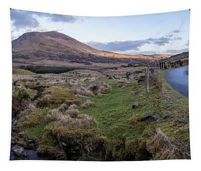 Ballaghisheen Pass Ireland With Stream Tapestry