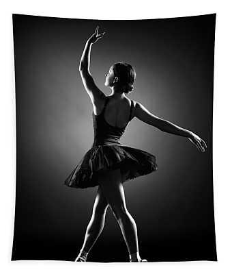 Ballerina Dancing Tapestry