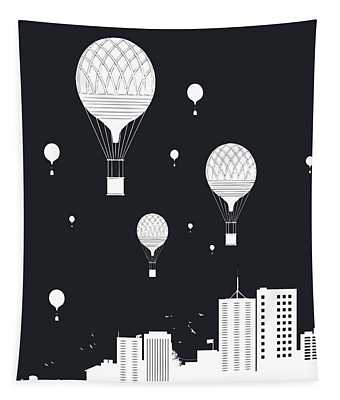 Balloons And The City Tapestry
