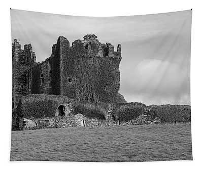 Ballycarbery Castle Ireland Black And White Tapestry