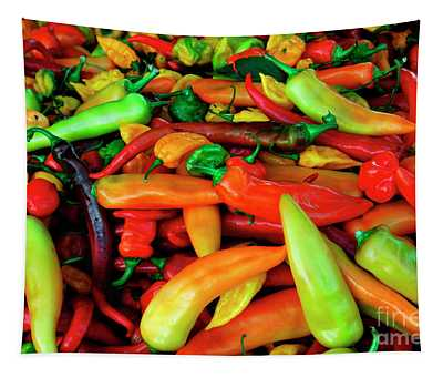 Banana Peppers Farmers Market Tapestry