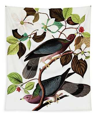 Band Tailed Pigeon, Columba Fasciata By Audubon Tapestry
