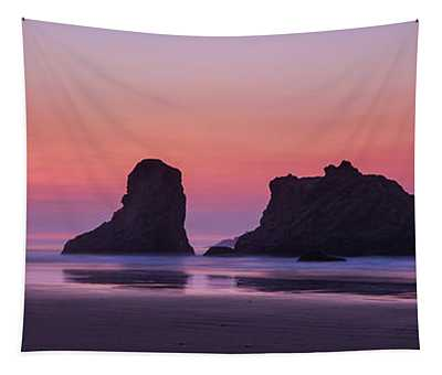 Bandon Face Rock Panorama Tapestry