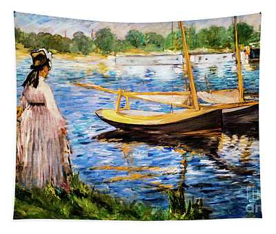Banks Of The Seine At Argenteuil Tapestry