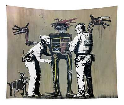 Banksy Coppers Pat Down Tapestry