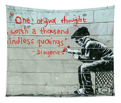Banksy Diogenes Tapestry