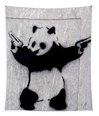 Banksy Panda Tapestry