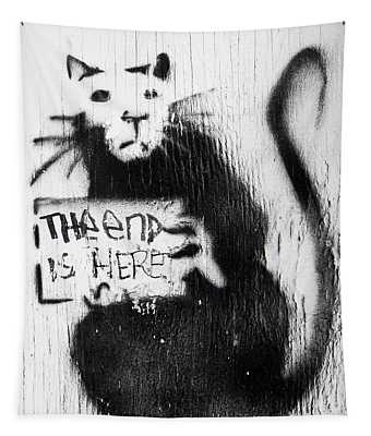 Banksy Rat The End Is Here Tapestry