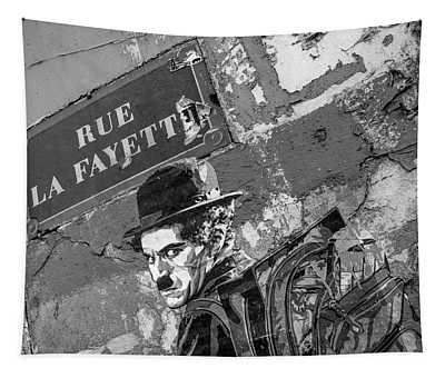 Banksy Rue La Lafayette Tapestry
