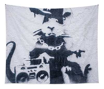 Banksy's Gansta Rat Tapestry