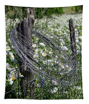 Barbed Wire And Poppies Tapestry