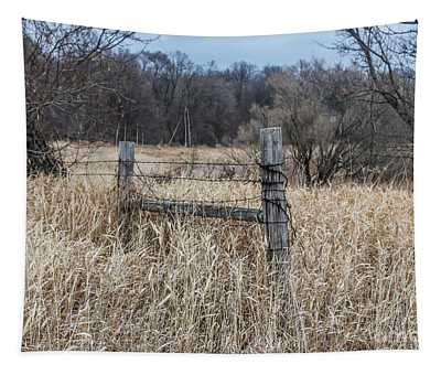 Barbed Wire Fence Tapestry