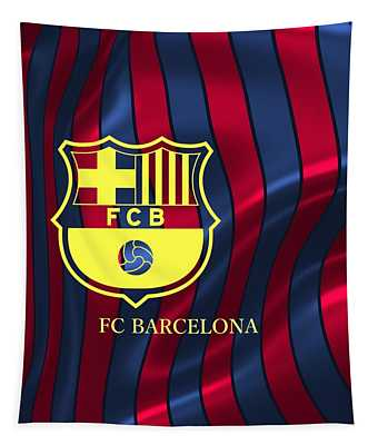 Barcelona Sport Colors Tapestry