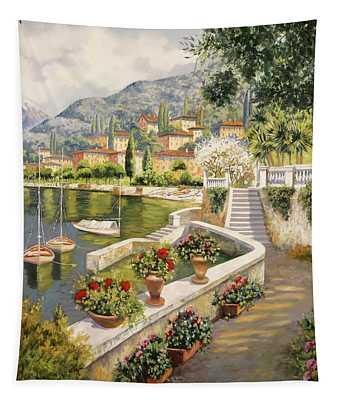 barche a Bellagio Tapestry
