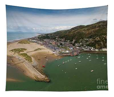 Barmouth Wales From The Air Tapestry