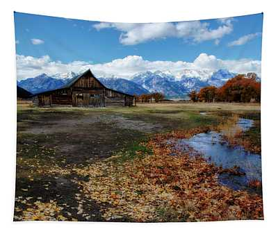 Barn On Mormon Row Tapestry