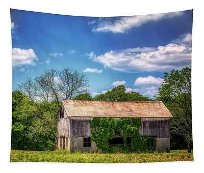 Barn With Ivy Tapestry