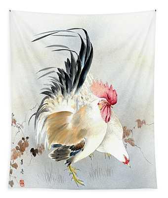 Barnyard Fowl Tapestry