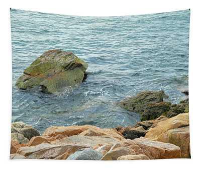Bass Harbor Cliffs At Acadia Tapestry