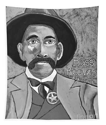 Bass Reeves - Black And White Tapestry
