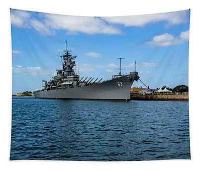 Battleship Missouri Tapestry