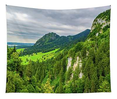 Bavarian Alps Panorama Tapestry
