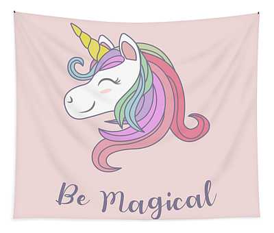 Be Magical - Baby Room Nursery Art Poster Print Tapestry